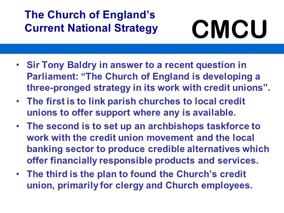 The Church of England's Current National Strategy