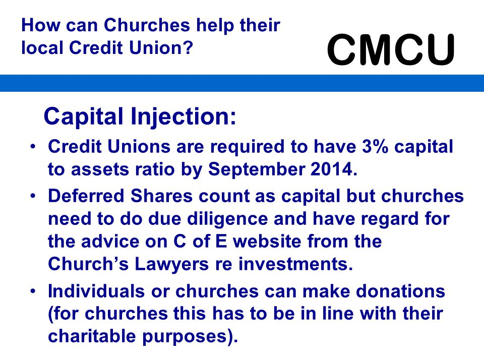 How can Churches help their local Credit Union