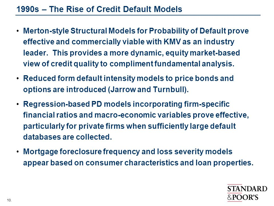 1990s – The Rise of Credit Default Models