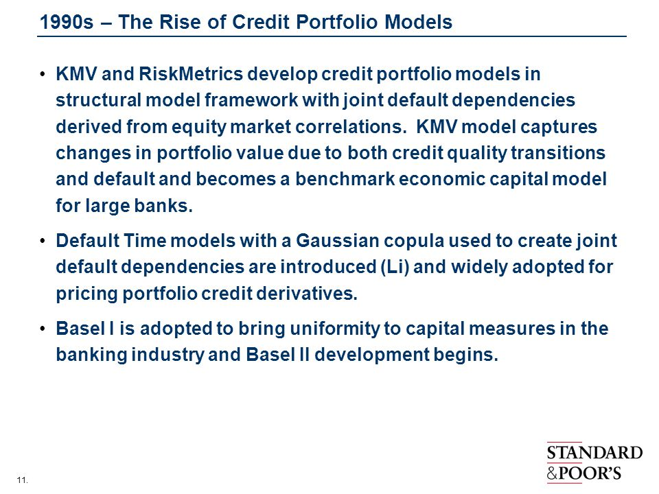 1990s – The Rise of Credit Portfolio Models