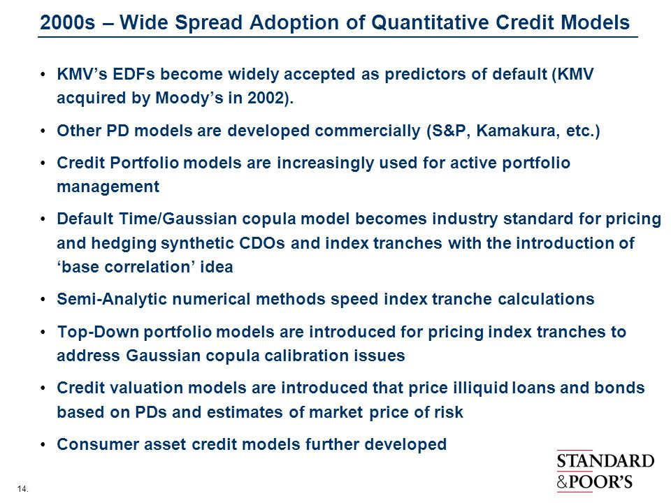 2000s – Wide Spread Adoption of Quantitative Credit Models