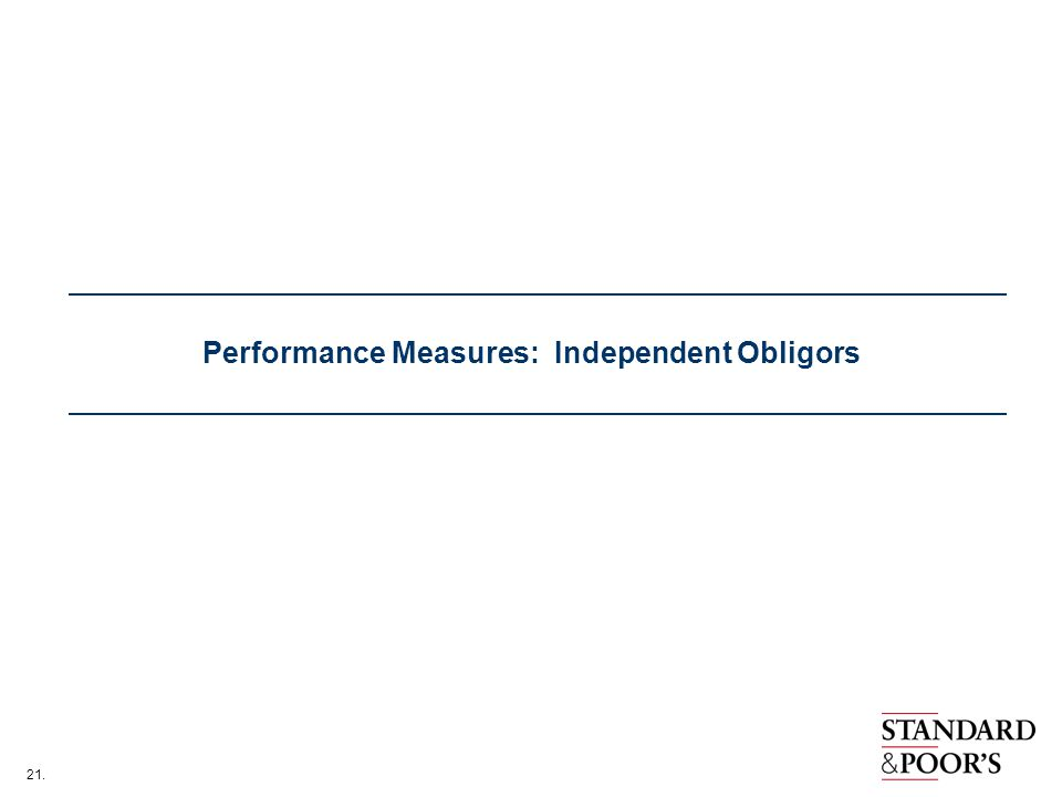 Performance Measures: Independent Obligors