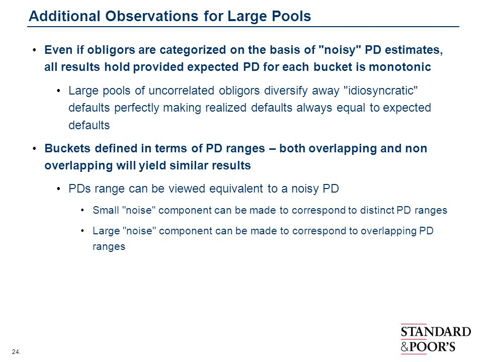 Additional Observations for Large Pools