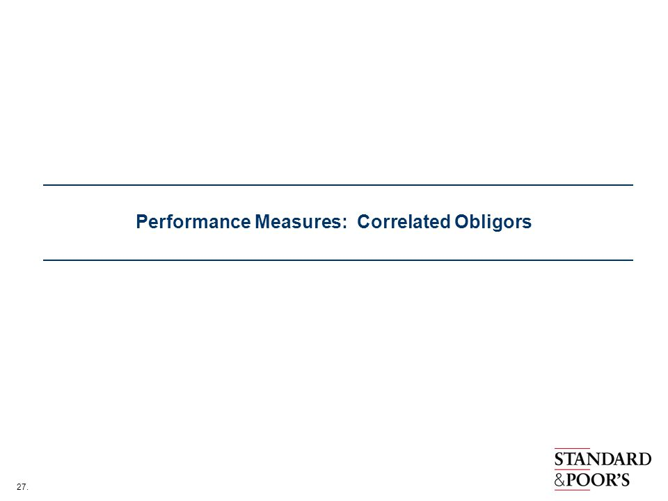 Performance Measures: Correlated Obligors