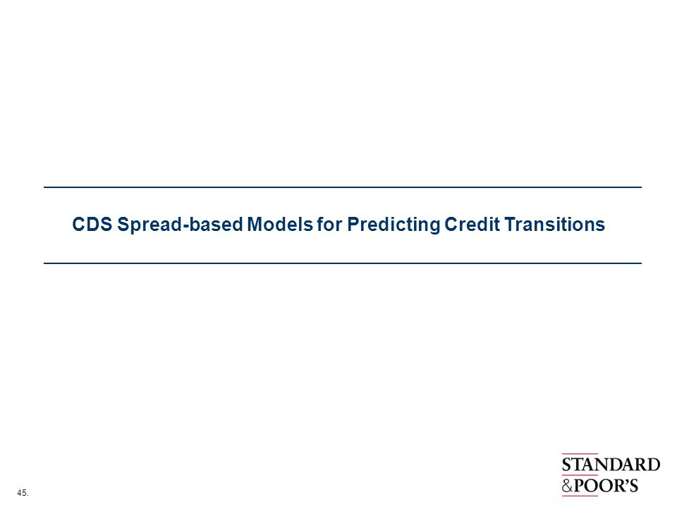 CDS Spread-based Models for Predicting Credit Transitions