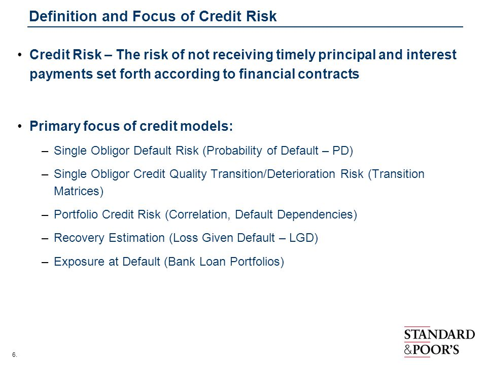 Measurement and estimation of credit risk