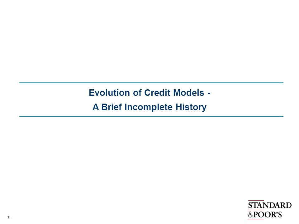 Evolution of Credit Models - A Brief Incomplete History