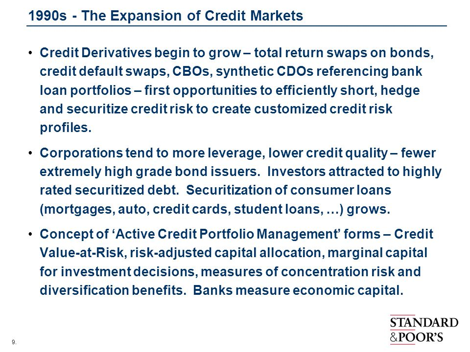 1990s - The Expansion of Credit Markets