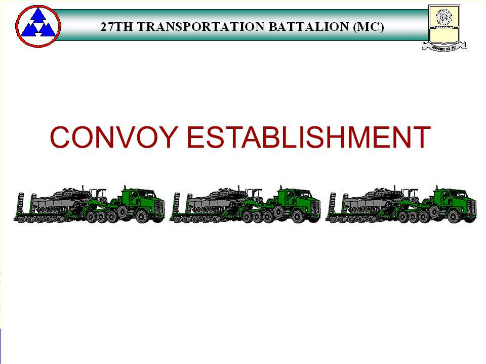 CONVOY ESTABLISHMENT