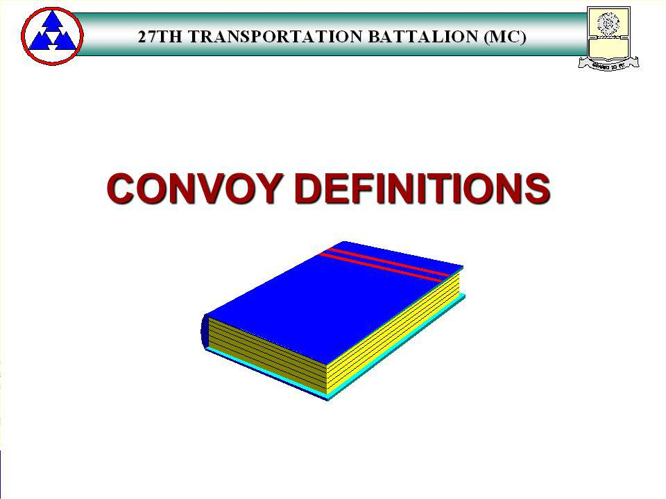 CONVOY DEFINITIONS