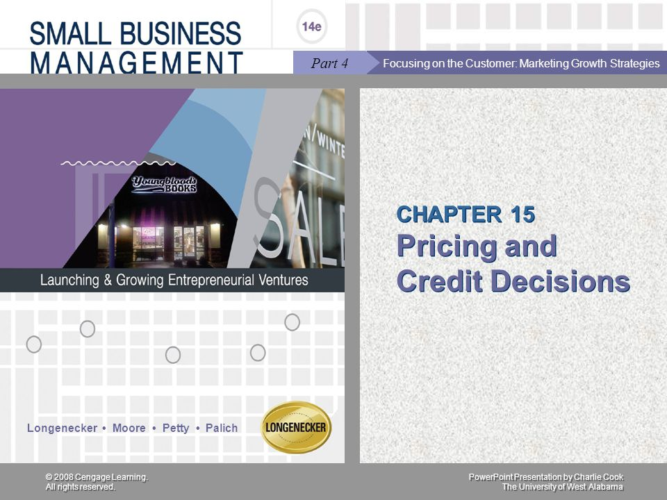 CHAPTER 15 Pricing and Credit Decisions