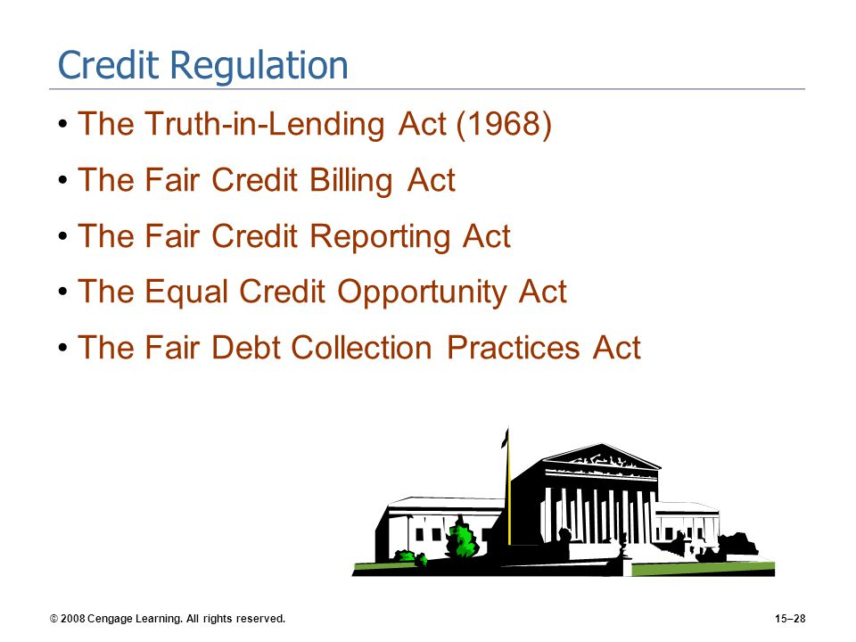 Credit Regulation The Truth-in-Lending Act (1968)