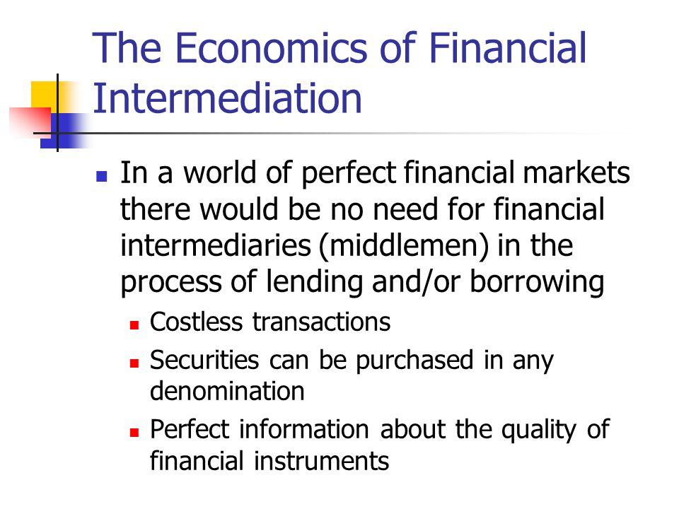 The Economics of Financial Intermediation