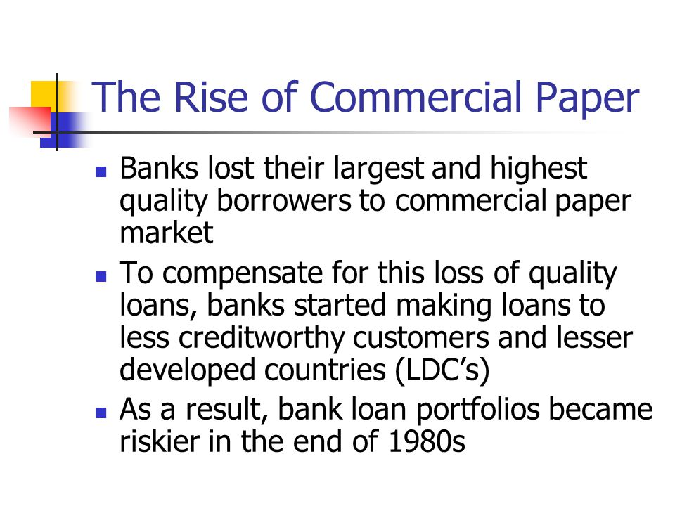 The Rise of Commercial Paper