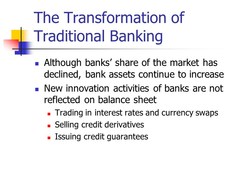 The Transformation of Traditional Banking