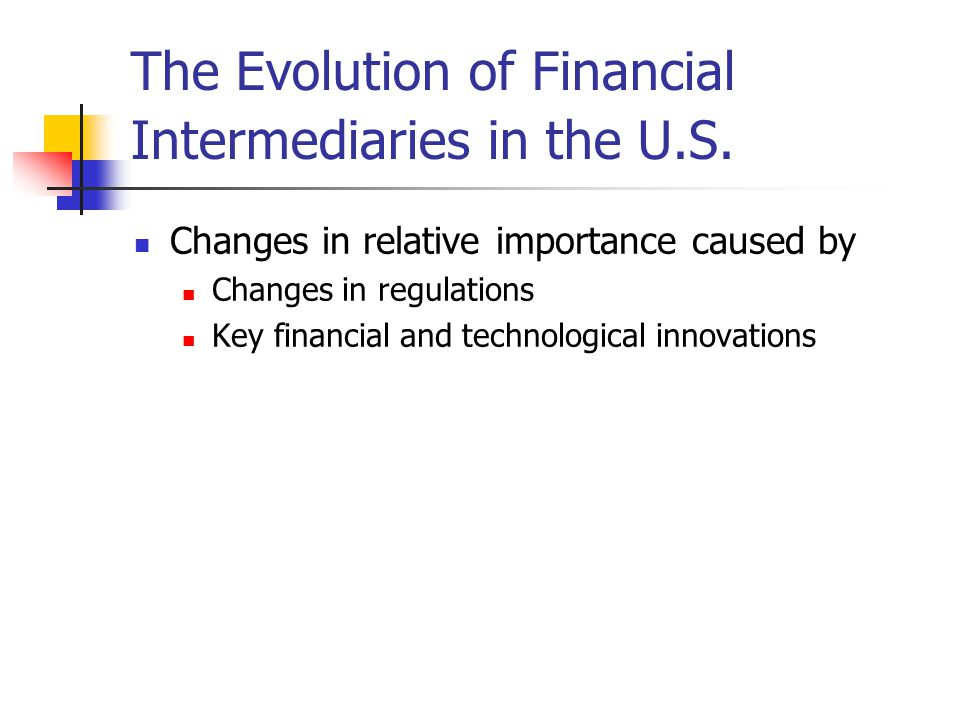 The Evolution of Financial Intermediaries in the U.S.
