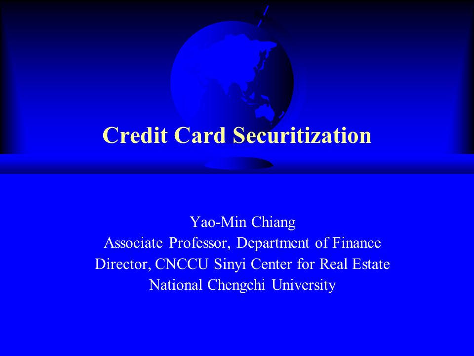 Credit Card Securitization