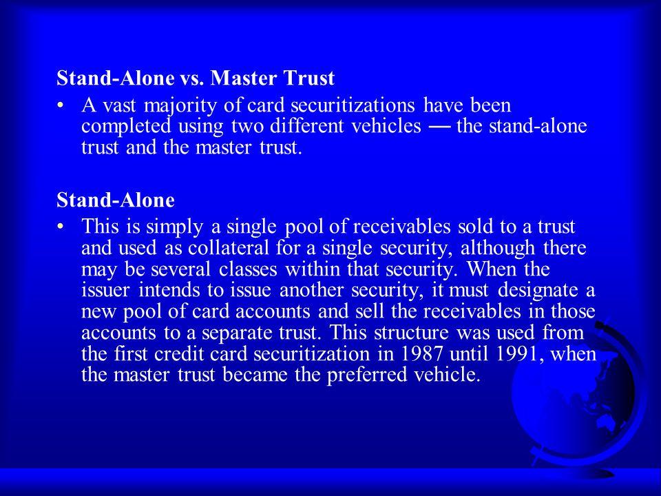 Stand-Alone vs. Master Trust