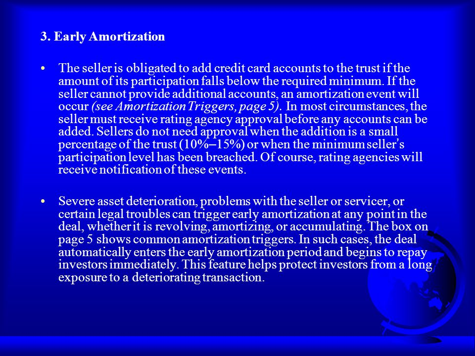 3. Early Amortization