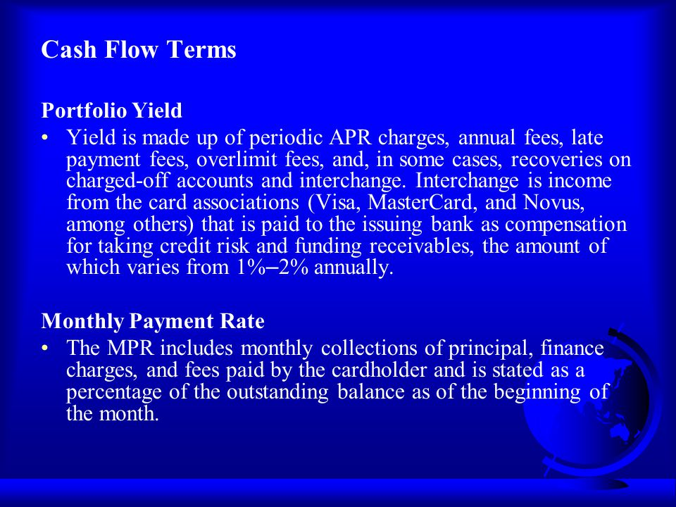 Cash Flow Terms Portfolio Yield