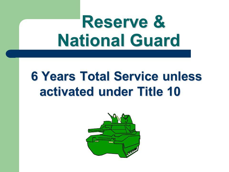 Reserve & National Guard
