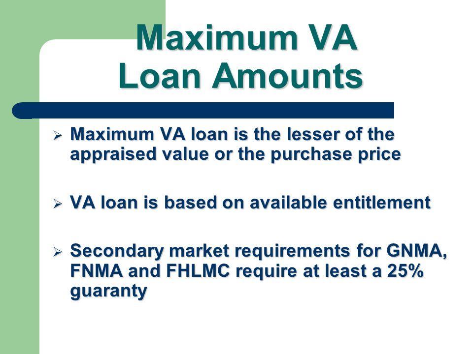 Maximum VA Loan Amounts