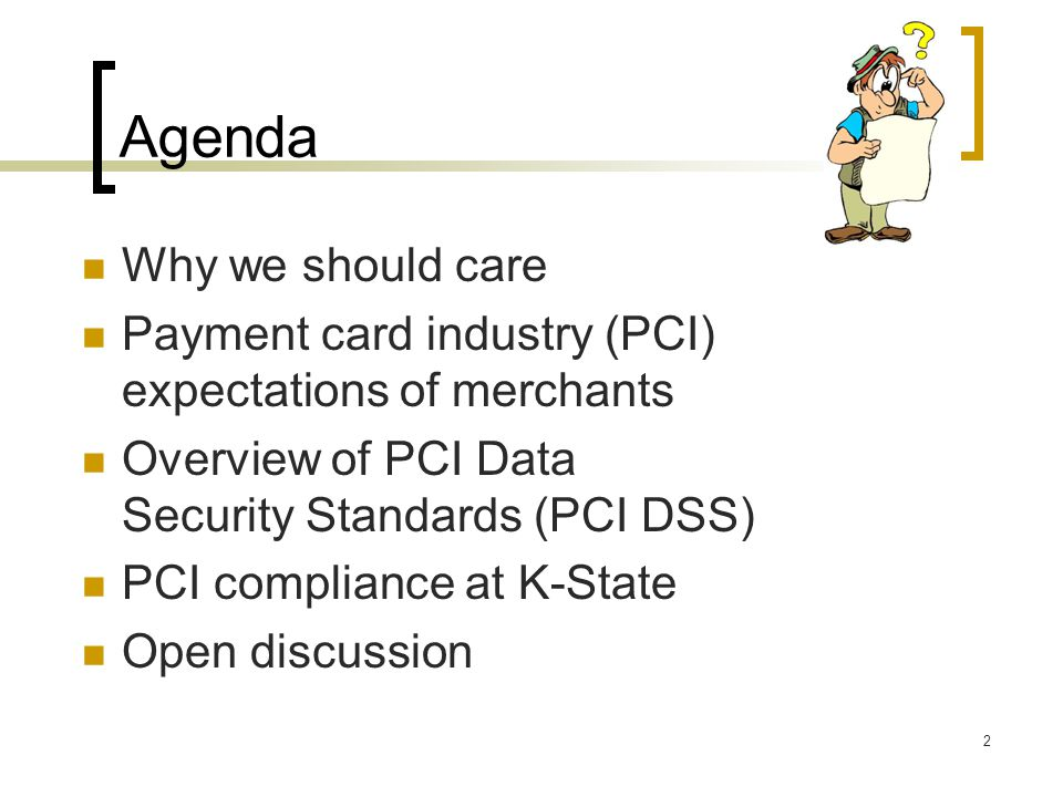 Agenda Why we should care