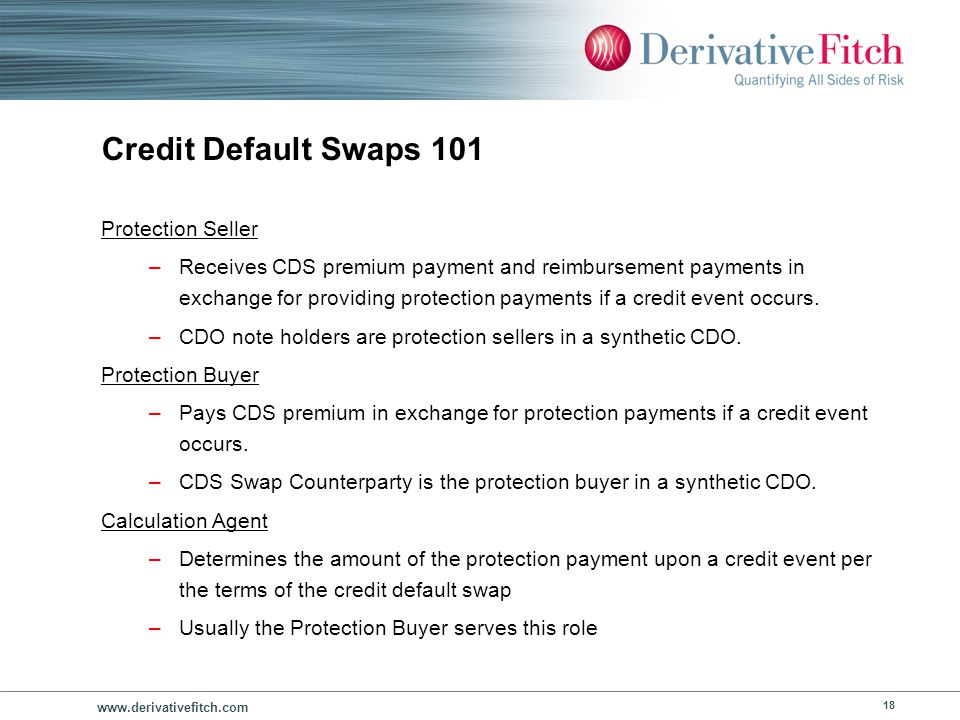 Credit Default Swaps 101 Collateral or Eligible Investment
