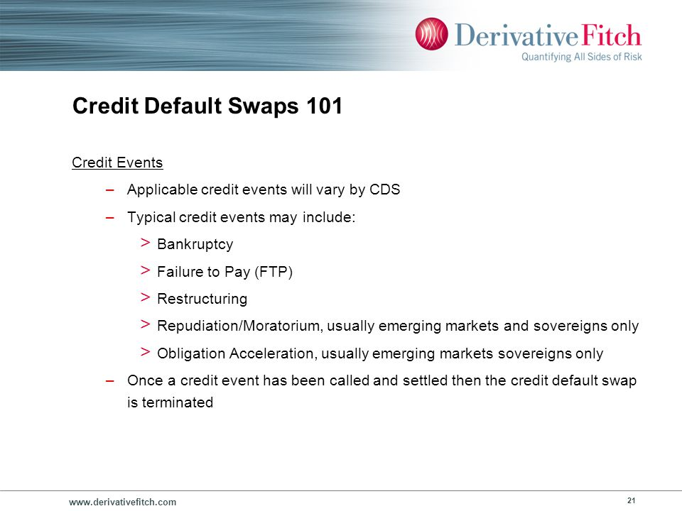 Credit Default Swaps 101 Settlement and Valuation Procedures