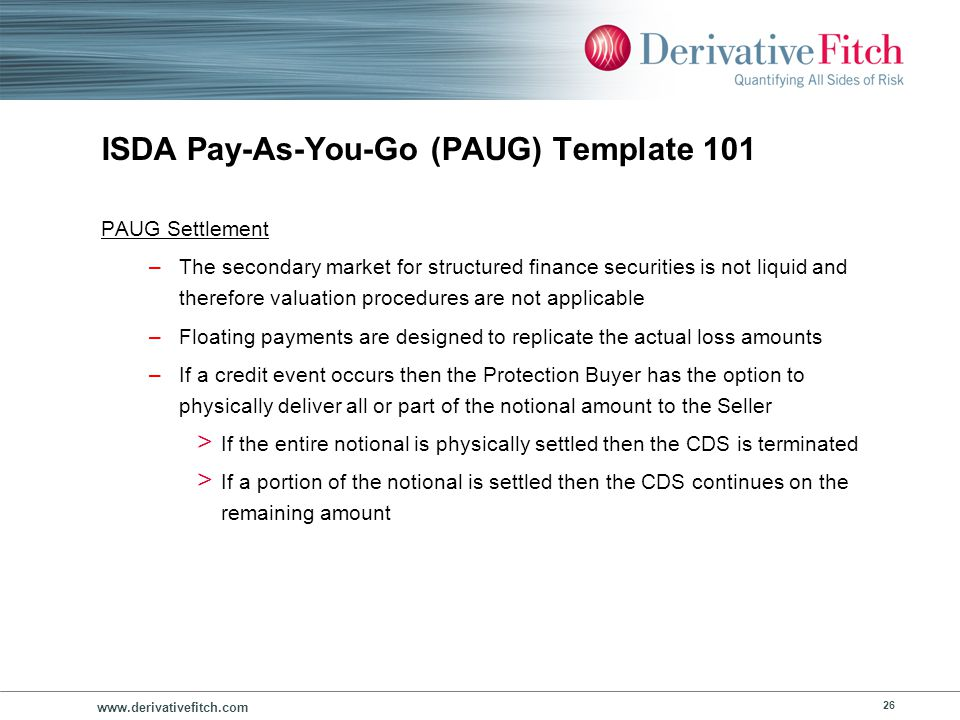 ISDA Pay-As-You-Go (PAUG) Template 101