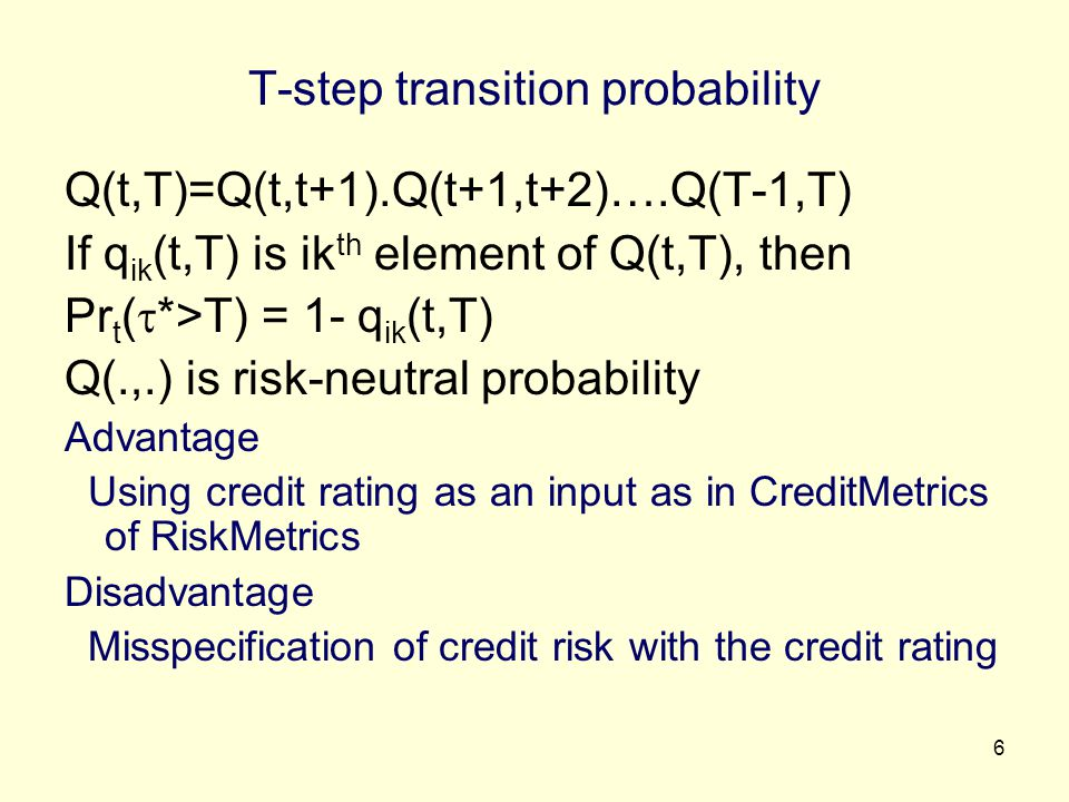 T-step transition probability