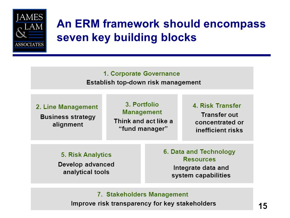 The enterprise risk management process