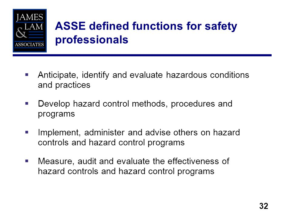 Role for safety professionals in enterprise risk management