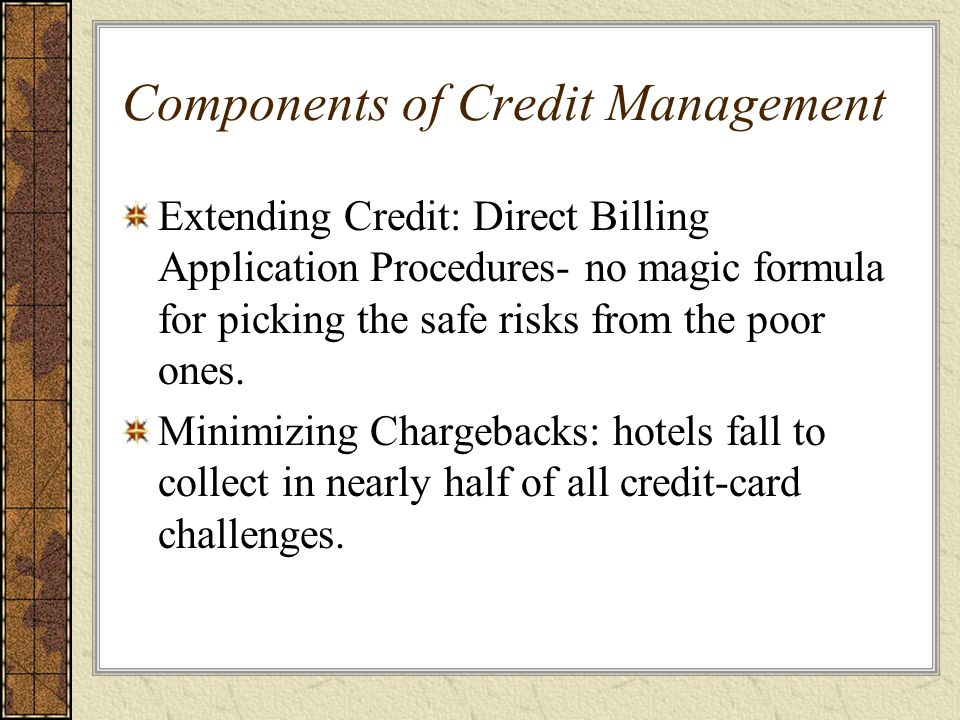 Components of Credit Management