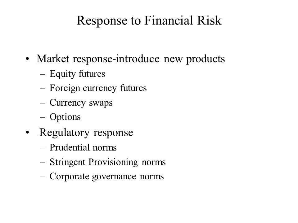 Response to Financial Risk