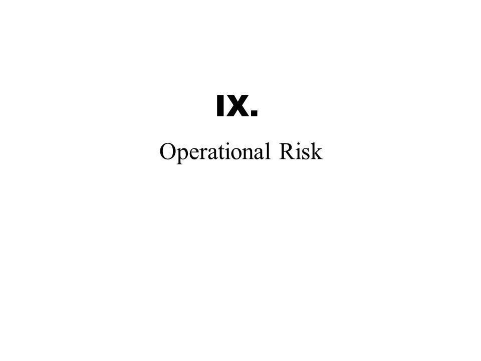 IX. Operational Risk