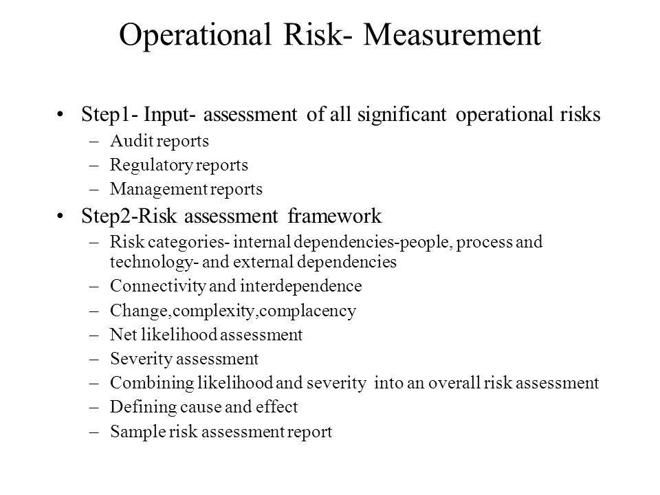 Operational Risk- Measurement