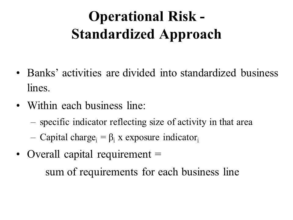 Operational Risk - Standardized Approach