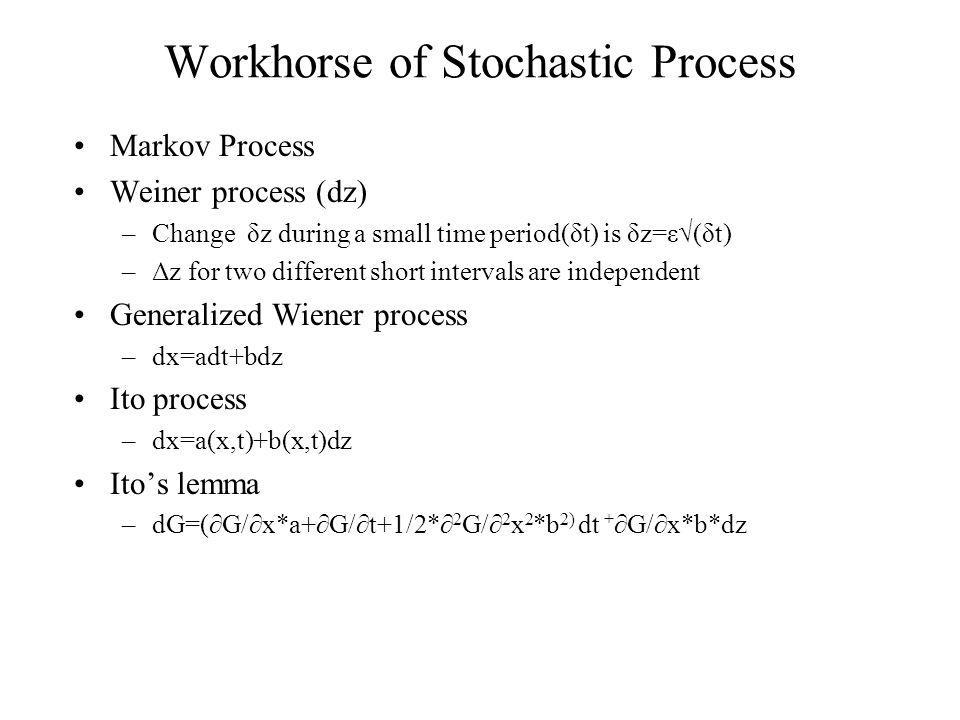 Workhorse of Stochastic Process