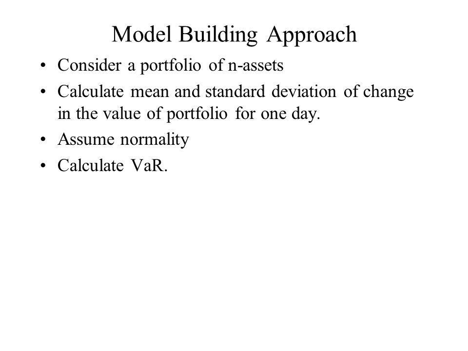 Model Building Approach