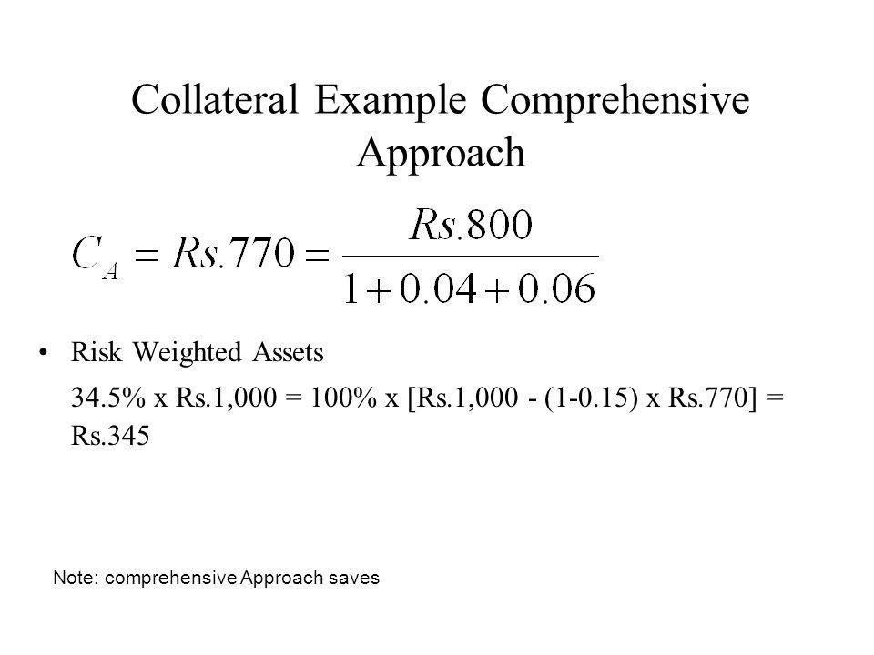 Collateral Example Comprehensive Approach