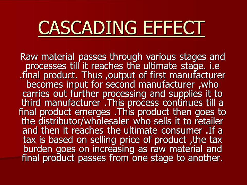 CASCADING EFFECT