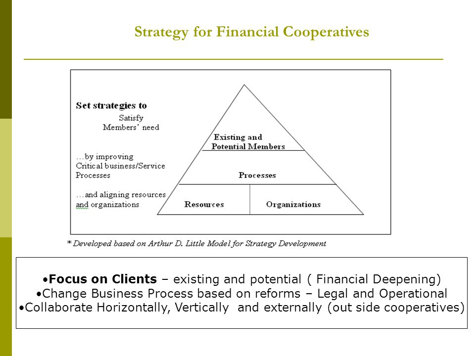 Strategy for Financial Cooperatives