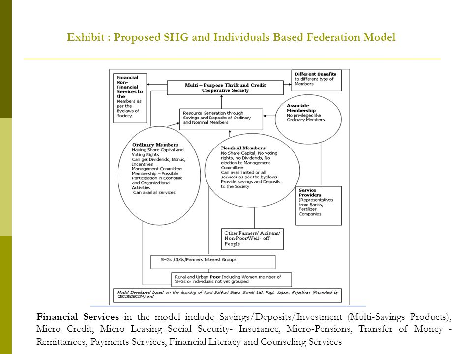 Exhibit : Proposed SHG and Individuals Based Federation Model