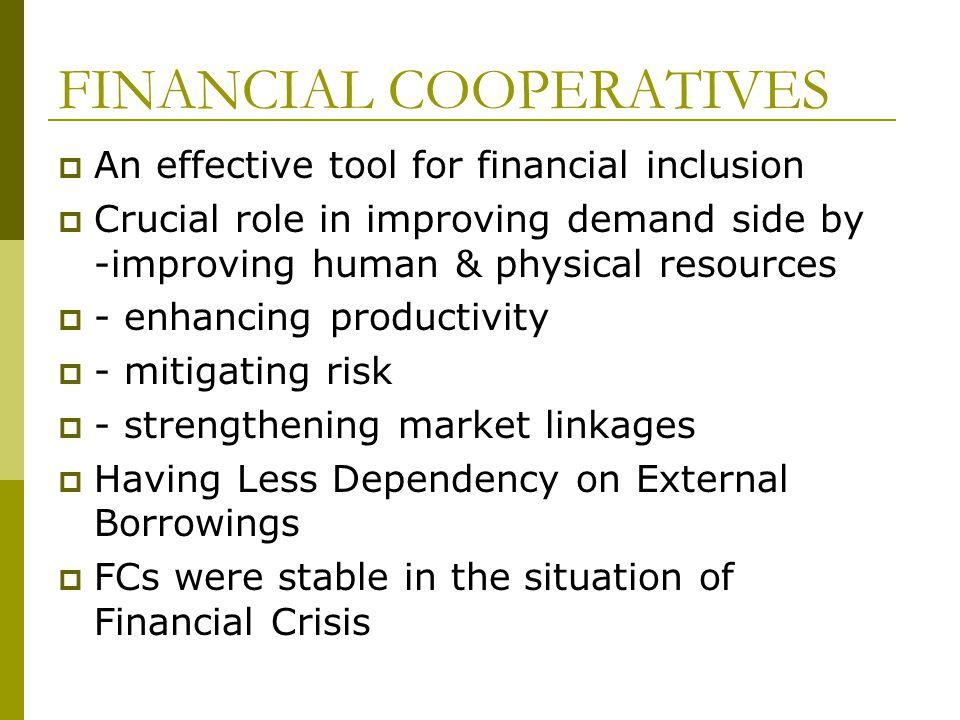 FINANCIAL COOPERATIVES