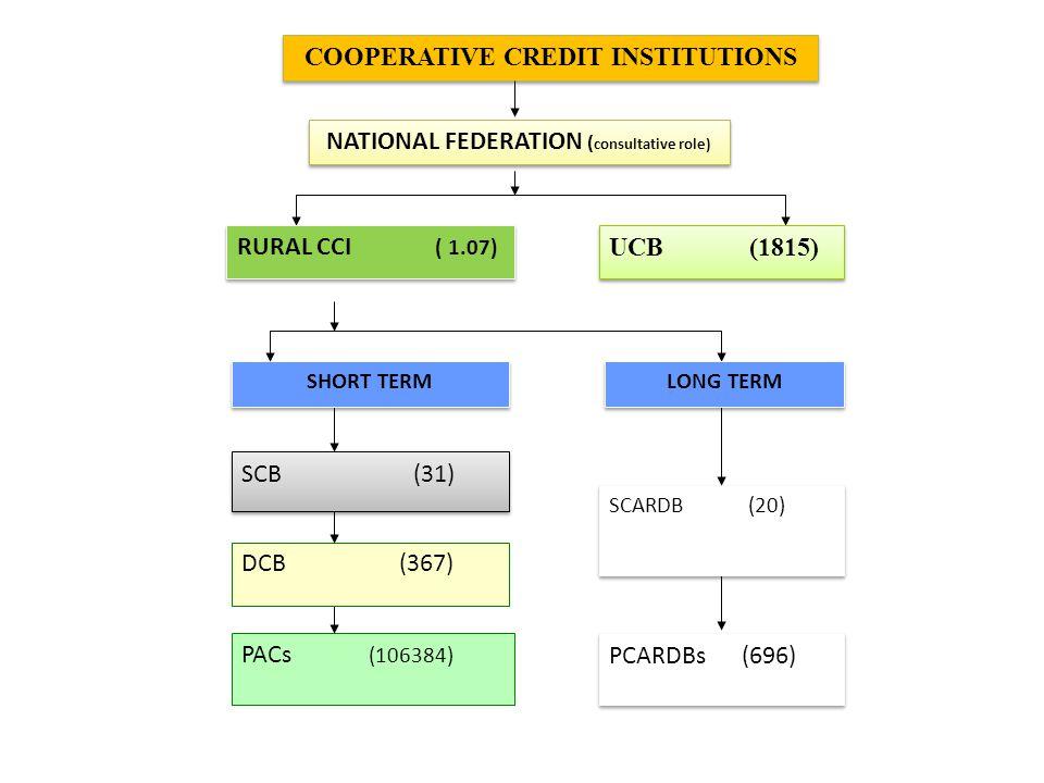 COOPERATIVE CREDIT INSTITUTIONS