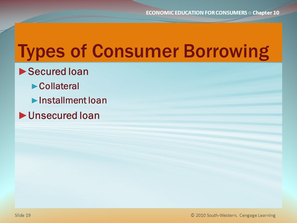 Types of Consumer Borrowing