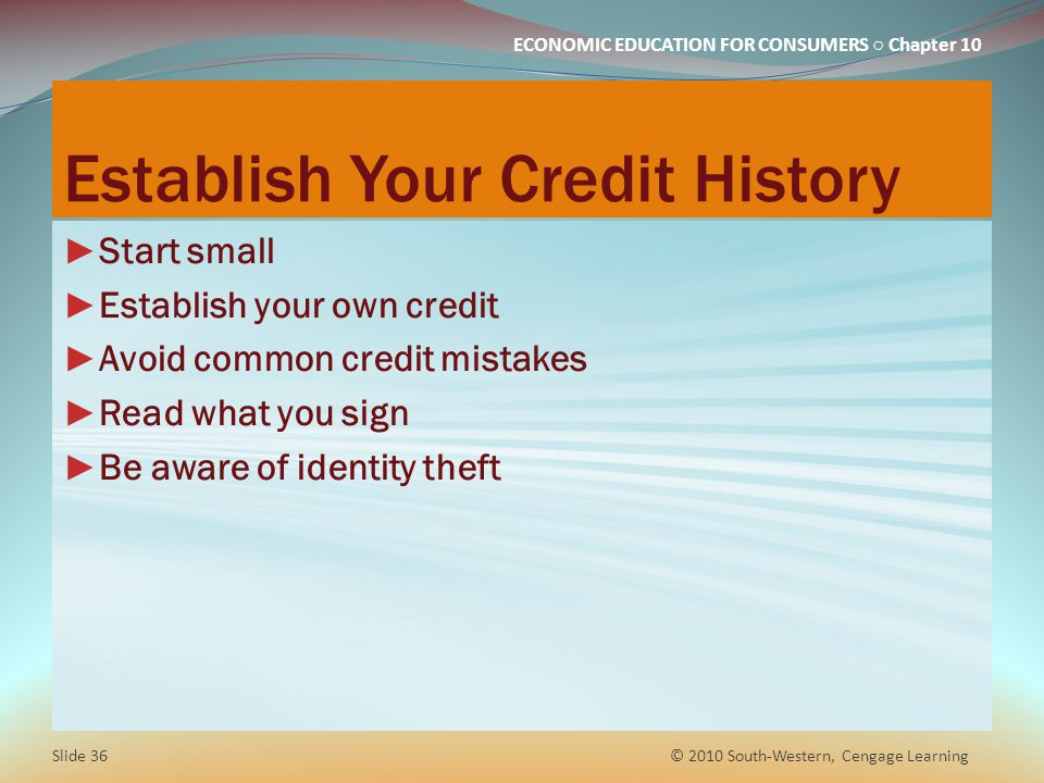 Establish Your Credit History