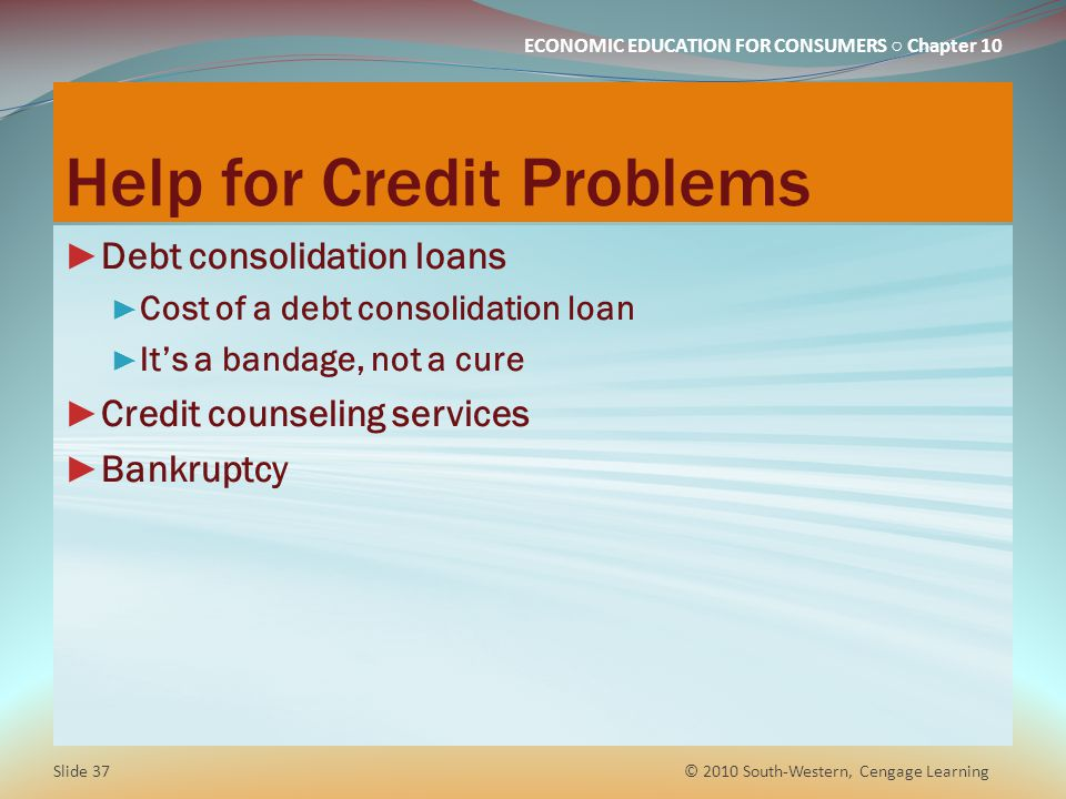 Help for Credit Problems