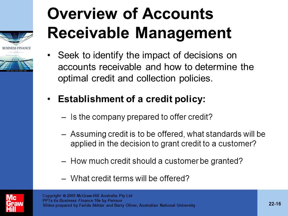 Overview of Accounts Receivable Management